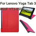 3 in 1 Luxury Leather Stand Tablet Cover Case For Lenovo Yoga Tab 3 850F YT3-850F + Screen Protector + Stylus Case