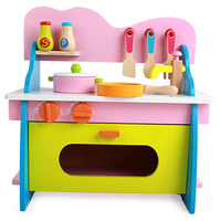 New Wooden Toy Pretend Play Toy Simulation Kitchen Set Colourful Kitchen Food Baby Infant Toy Food Birthday Children Gift D27