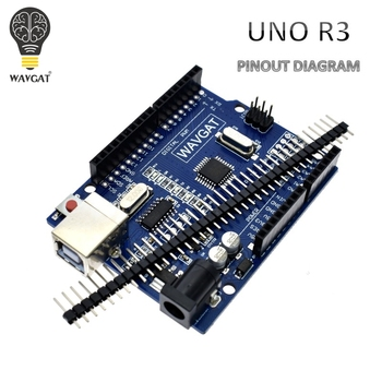 WAVGAT high quality UNO R3 MEGA328P CH340G for Arduino Compatible NO USB CABLE MEGA 2560. uno r3 ch340g mega328p smd chip 16mhz for arduino uno r3 development board usb cable atega328p one set