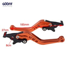 GOOFIT Motorcycle Brakes Clutch Levers Set Adjustable CNC Aluminum Motorbike brake For bike motorc H388-010