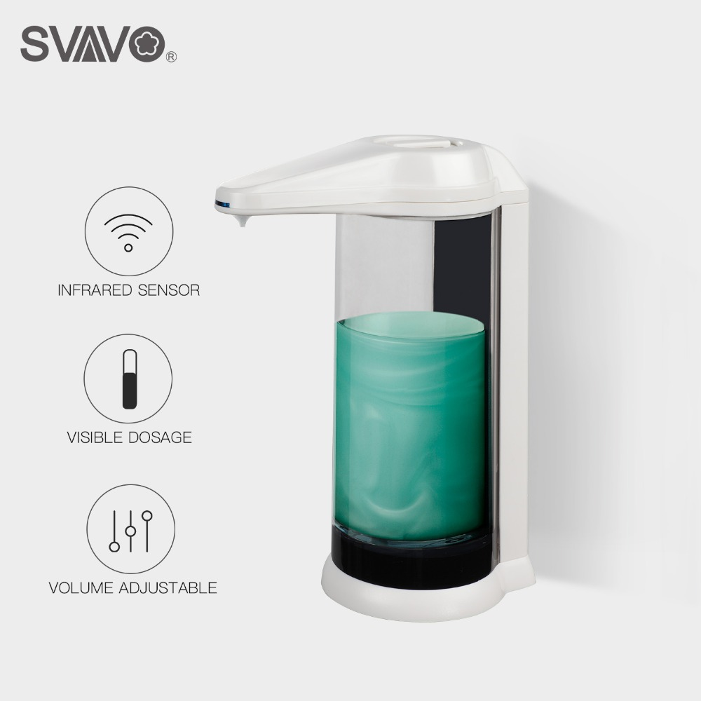 Hand Free 500ml Automatic Soap Dispenser Touchless Sanitizer Dispenser Smart Sensor Liquid Soap Dispenser for Kitchen Bathroom