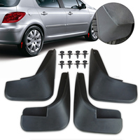 New Black 4 Pcs Mud Flaps Flap Splash Guards Mudguard Mudflaps Fenders For Peugeot 307 2000