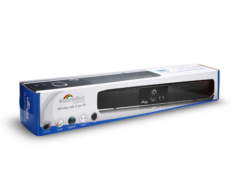 Мощный USB мини Саундбар/звуковой бар, HIFI USB POWERED Саундбар динамик для компьютера/ПК/ноутбука/планшетов/маленького телевизора и т. д.