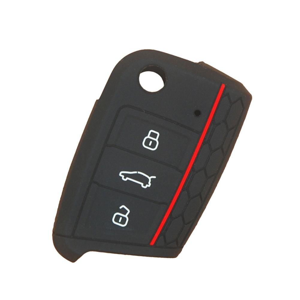 Key Remote Case Cover Shell For VW Golf 7 MK7 Skoda A7 Silicone Car Accessories Key Walle Key Organizer Tчехол для ключей