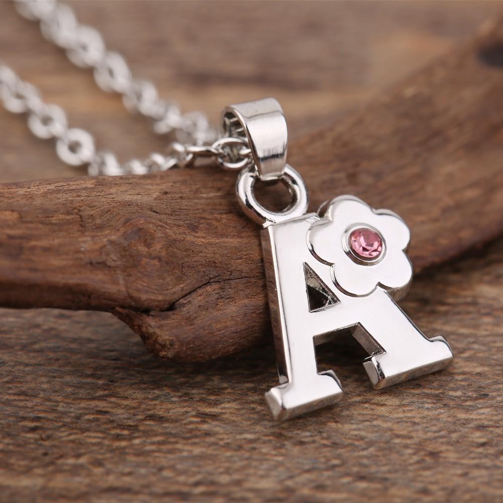 Minha forma alfabeto jóias meninas nome colar presente amigável liga inglês letra a b c d e f g h i j k l m n capital pingentes