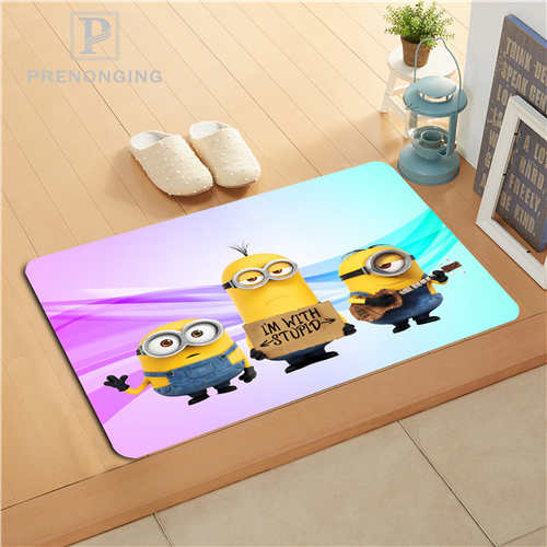 Custom Cartoon Minion Doormat Print slip-resistant Mats Floor Bedroom Living Room Rugs 40x60cm 50x80cm Free Shipping 171128-25