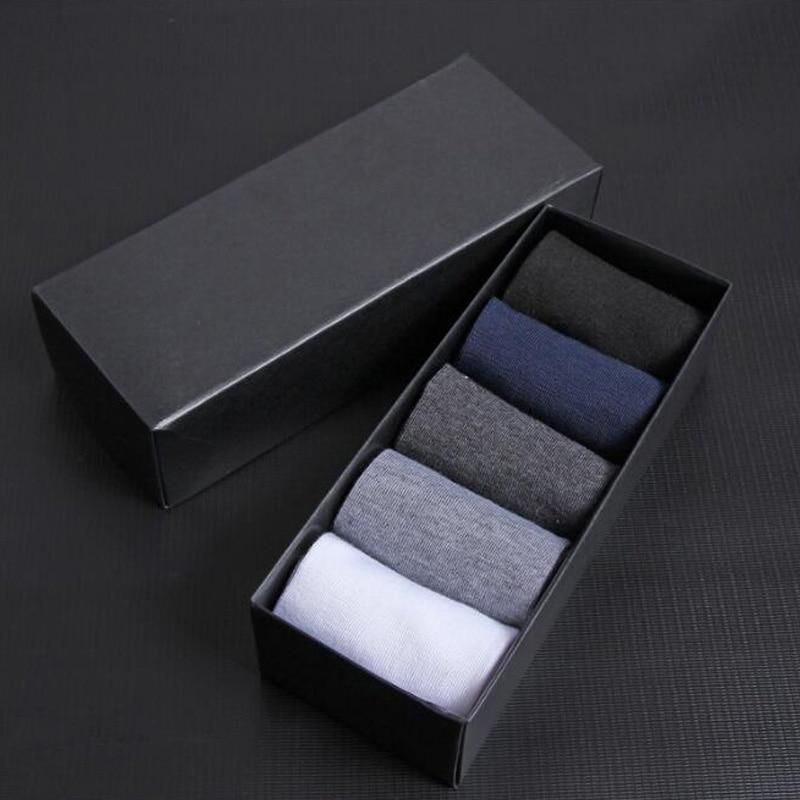 High Quality Casual Men's Business   Socks   For Men Cotton Brand Crew Autumn Winter Black White   Socks   meias homens 6 Pairs dropship