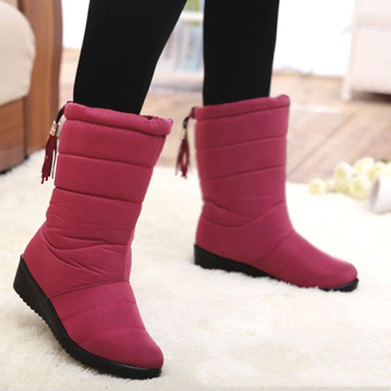 030aae406 Botas mujeres 2018 moda invierno zapatos mujer botas impermeables zapatos  mujer invierno botas de invierno para las mujeres