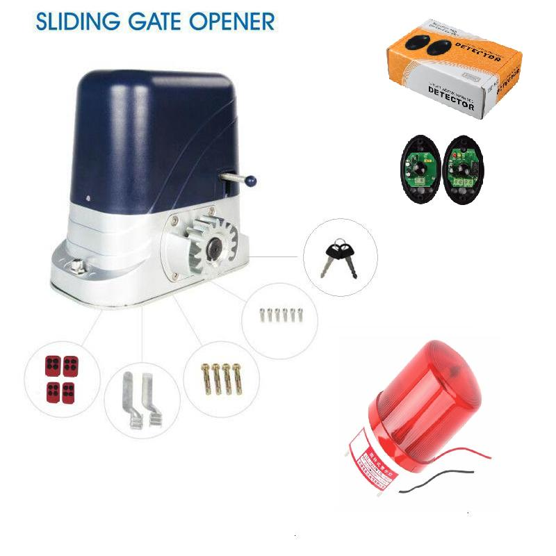 800kg loading Automatic electric sliding gate opener with 4 remote control 1 photocell 1 lamp батарейку на lg kg 800