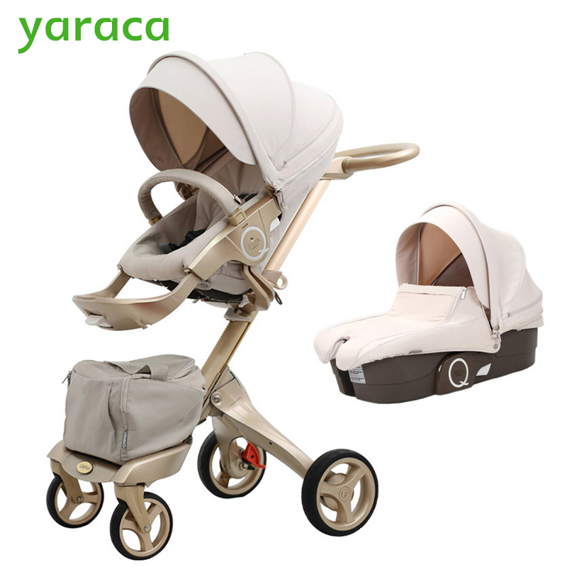 Luxury Baby Stroller High Landscope Portable Baby Carriages Folding Prams For Newborns Travel System 2 in 1 rajhans verma santosh kumar pandey and w p badole effect of methods of composting on quality of compost from wheat straw