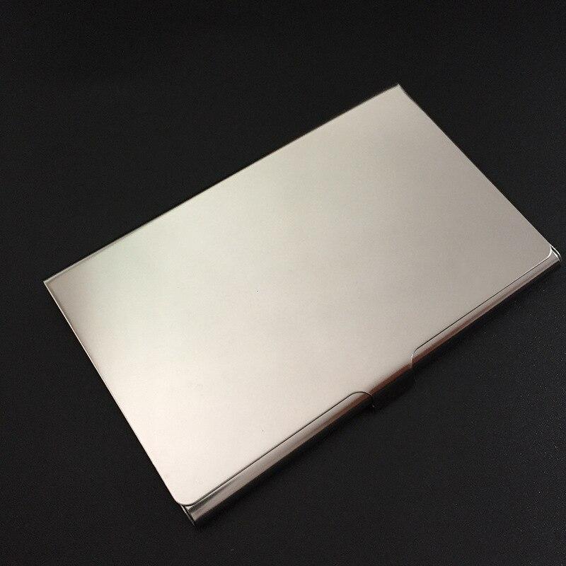 Us 89 5 Personalisiert Visitenkartenhalter Box Benutzerdefinierte Logo Graviert Metall Business Name Karte Fall Tasche Brieftasche Id Kartenhalter