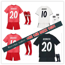 cc58c6636 2019 Realed Madrided kids kit + socks Soccer jersey 18 19 MARIANO BALE  BENZEMA asensio child football camisetas Free shipping