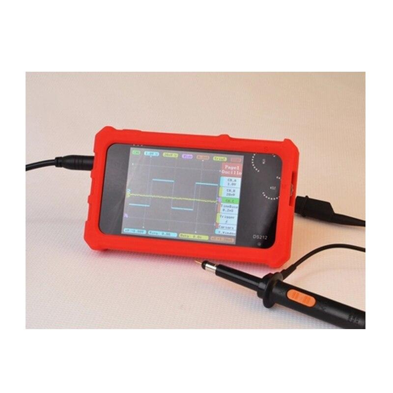 CCDSO Mini Digital Oscilloscope DS212 DSO212 Thumb Wheel 1MHz 8MB LCD Display Handheld Pocket Osciloscopio Silicone