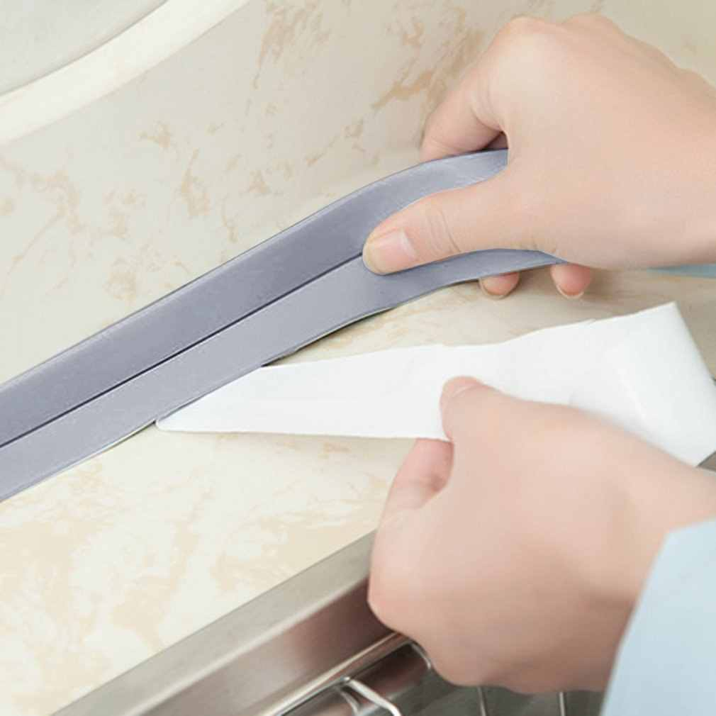 38 Mm * 3.2M Home Dapur Kamar Mandi Bathtub Wall Sealing Tape Strip Tahan Jamur Self Adhesive Tape untuk Wastafel baskom Tahan Air