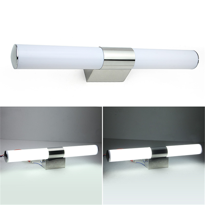 ФОТО 2017 14W LED 2835 SMD White Mirror Front Light LED Bathroom Wall Light Lamp Sconces Stainless Steel Crystal  Bath Wall Light