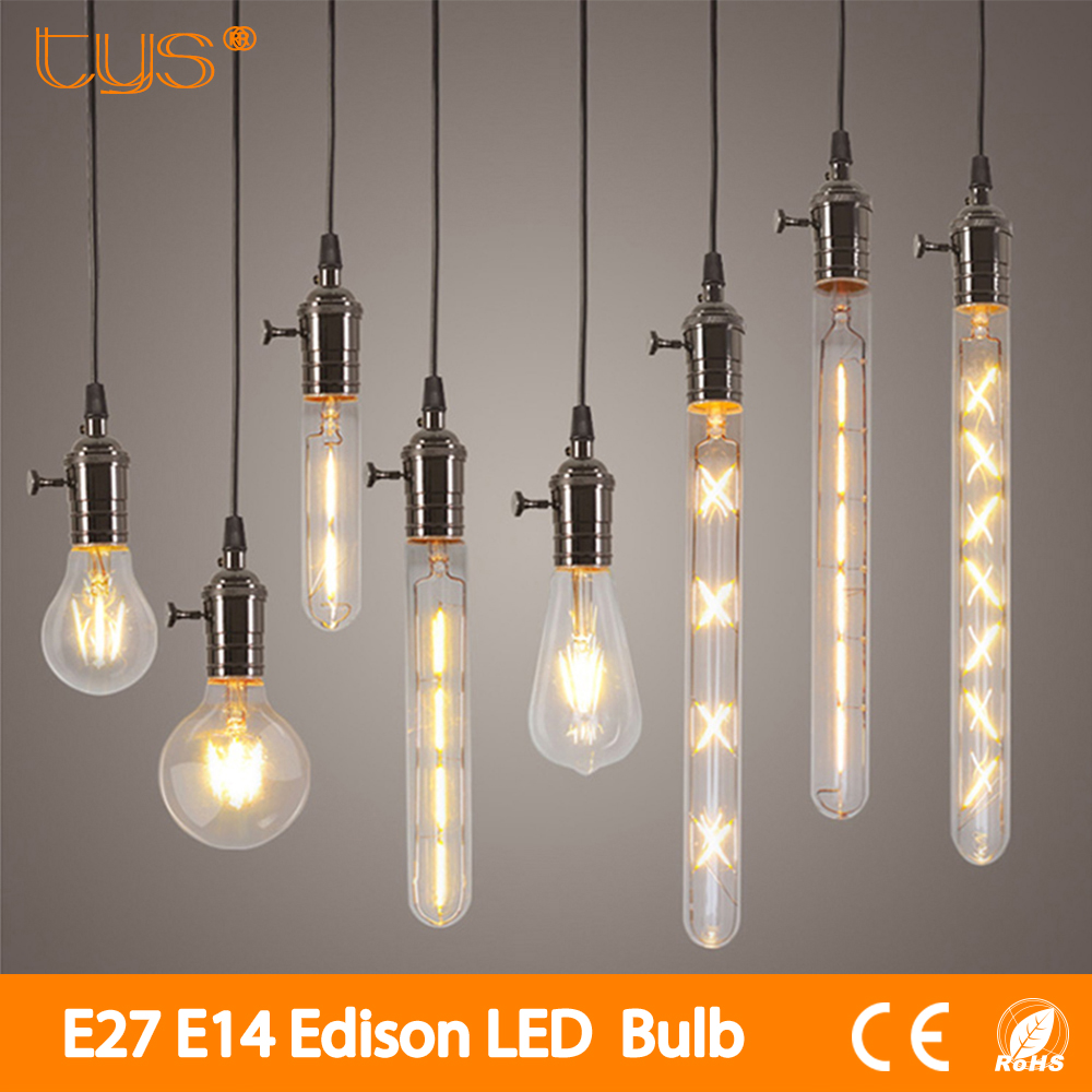 Vintage LED Filament Bulb E27 E14 Real watt 2W 3W 4W 6W Retro Antique Vintage Led Edison Bulb Warm White Lampada Led Light Bulbs e27 led 8w white warm white cob led filament retro edison led bulbs 85 265v