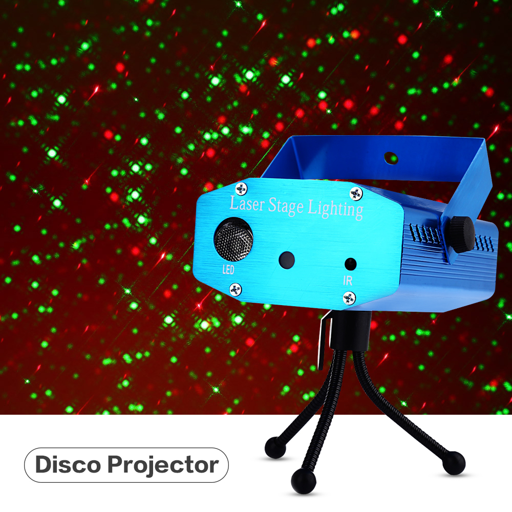 цена на Lightme Laser Lamp Dj Disco Projector AC 100 - 240V 9W Mini LED Stage Laser Light RGB Projector Club Festival LED Night Lamp 1PC