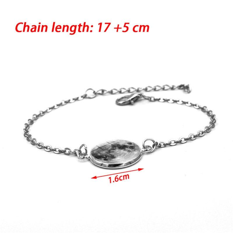 Fashion Bracelets Glow In The Dark Moon Charm Bracelet For Women