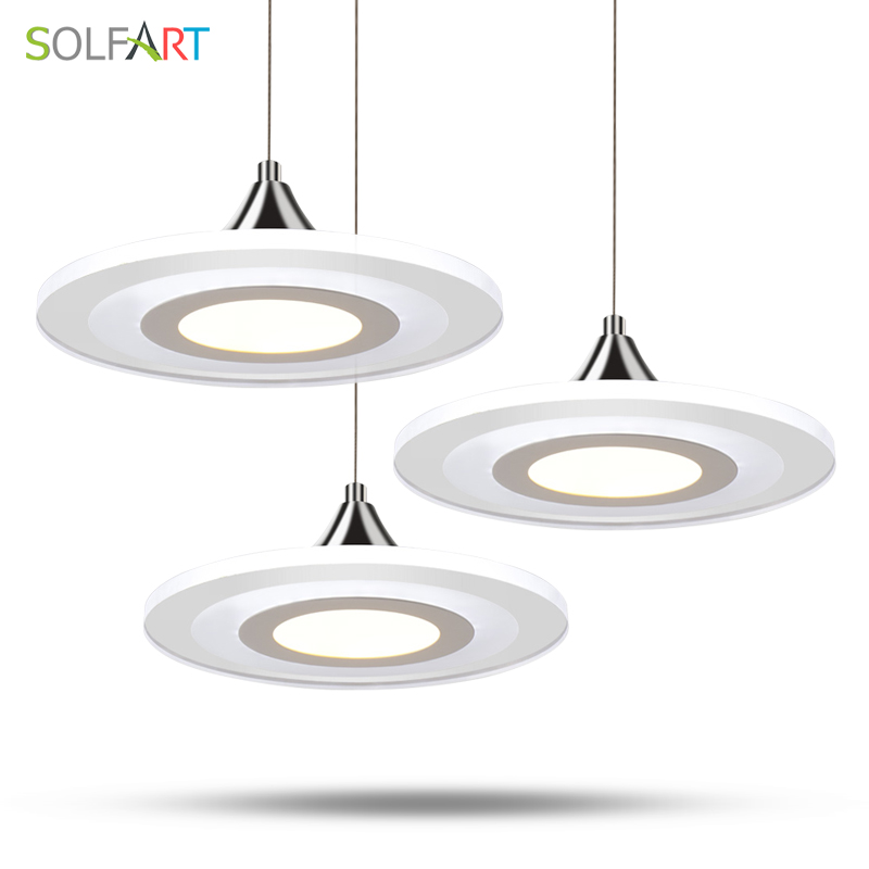 SOLFART Lighting MD3213 Time Type Design Modern Long Life LED Acrylic Dining Pendant Lights