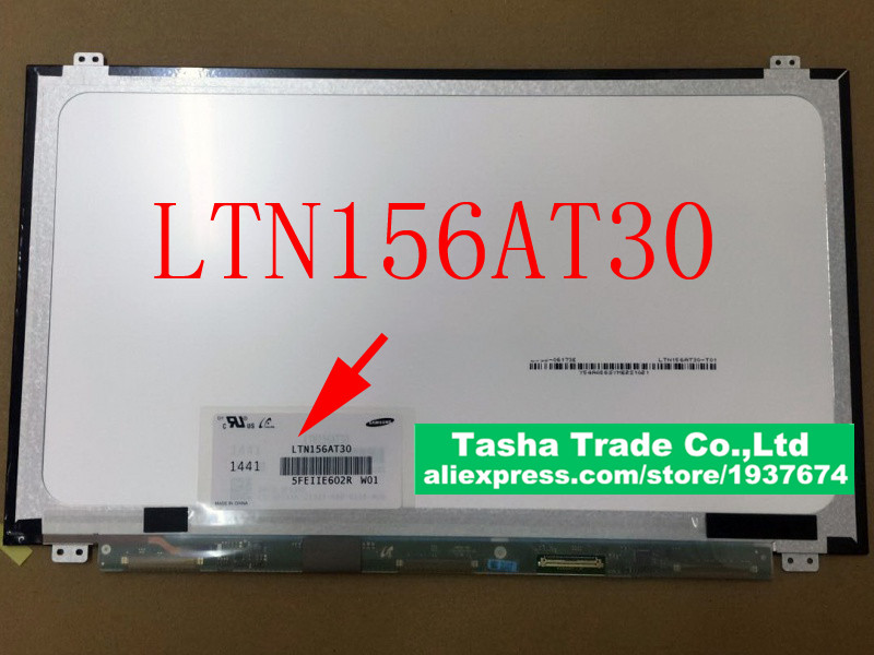 LTN156AT30 Laptop LCD Screen Matrix 40Pin LVDS Original
