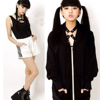 Hot Harajuku Do Punk Escuro Cosplay Artesanal Em Forma de X O Rodada Halter liga choker collar harness 2 clips para camisas bra tee t