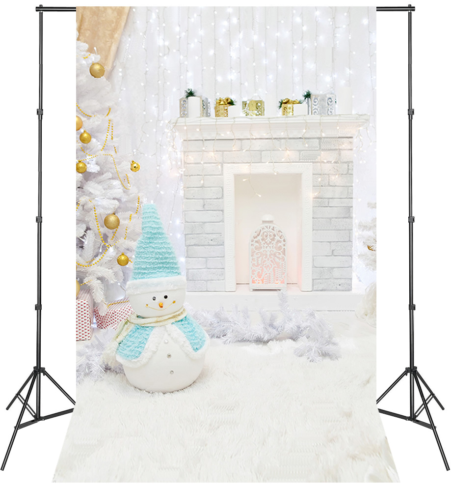 LIFE MAGIC BOX Vinyl Snowman Winter Photo Background Photography Backdrops Cute Wallpaper for Studio Christmas Backdrop kidniu scenery photography backdrops trees lake photo props wallpaper winter snow vinyl background for studio 9x5ft win1403