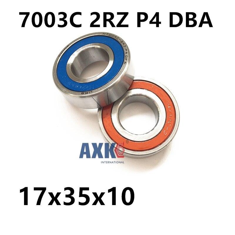 1 Pair AXK  7003 7003C 2RZ P4 DBA 17x35x10 17x35x20 Sealed Angular Contact Bearings Speed Spindle Bearings CNC ABEC-71 Pair AXK  7003 7003C 2RZ P4 DBA 17x35x10 17x35x20 Sealed Angular Contact Bearings Speed Spindle Bearings CNC ABEC-7
