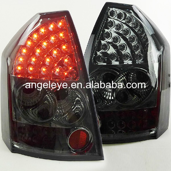 for 2005 2007 06 chrysler 300 300c led tail lights black lamps usa domestic free shipping For Chrysler for 300C LED Tail Light Rear lamp Back light  2005-2008 year Smoke Black Color SN