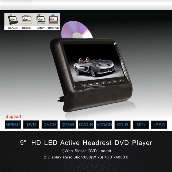 free shipping one pair 9 inch car headrest dvd player with usbsdbrackethdmikids gameirfmhd screen1pc dvd1pc monitor 5f in car multimedia player