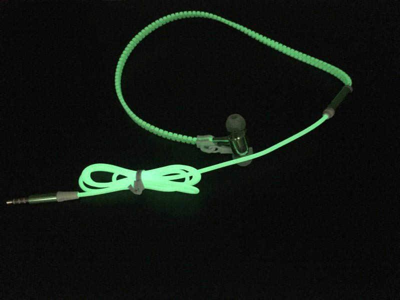 3.5 مللي متر في الأذن ستيريو مضيئة سماعات مضيئة سماعات ضوء الليل متوهجة سماعة في الأذن ستيريو الرياضة سماعة مع مايكروفون