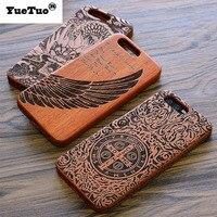 YueTuo luksusowe prawdziwe oryginalna drewniana skrzynka dla huawei ascend p10 p 10 5.2 cal mody drewniane laserowe rzeźba telefon pokrywa drewniane coque