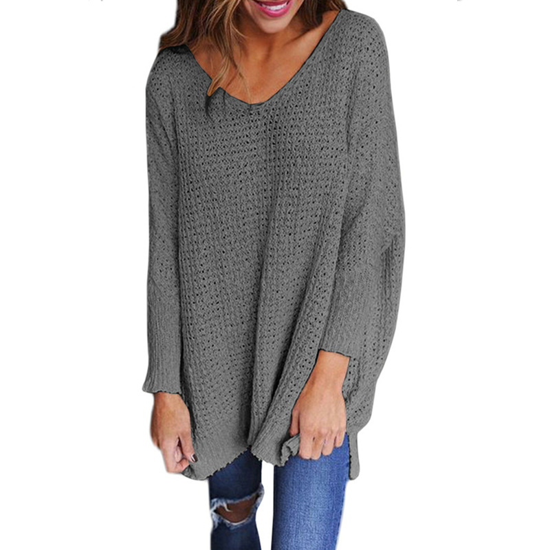 sweater Hot style fashionable European and American winter new v-neck sweater knit sweater blouse and blouse christmas sweater