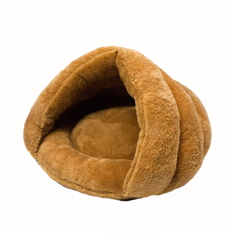 Venxuis 2 Size Winter Warm Dog Sleeping Bad Half Cover Winter Warm House Soft Pet Beds Nest Kitty Cats Pet Mat