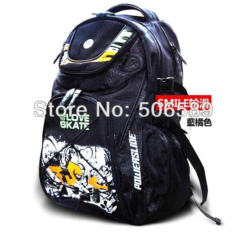 Free Shipping Skates Bag H:50cm W: 36cm Black Color