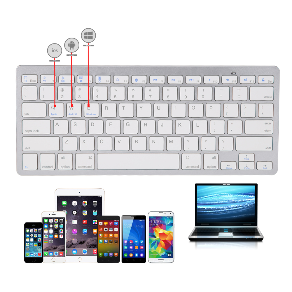 High Quality Tablet Keyboard Ultra-slim Wireless Bluetooth 3.0 Keyboard for Apple iPad 2 3 4 For Apple/Andorids/Windows System for apple wireless bluetooth us keyboard for imac g6 100