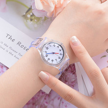 Silicone Children wristwatches clear Transparent Girls Watches Quartz Wristwatch Casual Crystal Ladies Watch Clock couple Gifts