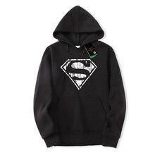 e2d34ec35aa0a Alta calidad hombre Superman imprimir ropa deportiva 2018 hombres Hoodies  Pullover Tracksuit sudaderas nueva moda ropa