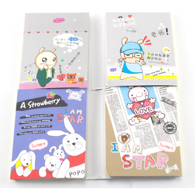 Kawaii Rabbit 4 Folding Memo Pad Sticky Notes Memo Notepad N times posted Work Schedule Scratch Pad office Decoration