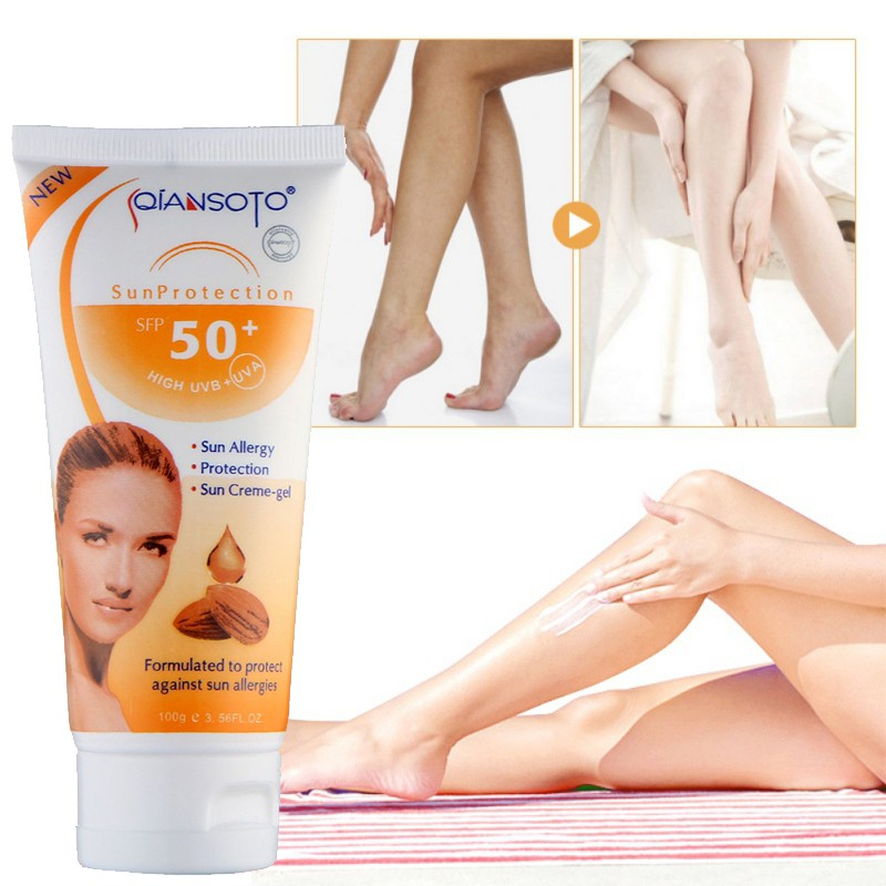 SPF50+ Facial Sunscreen Cream  Isolation Face Cream Protector Whitening UV Sunblock Body Sunscreen Concealer Skin Care
