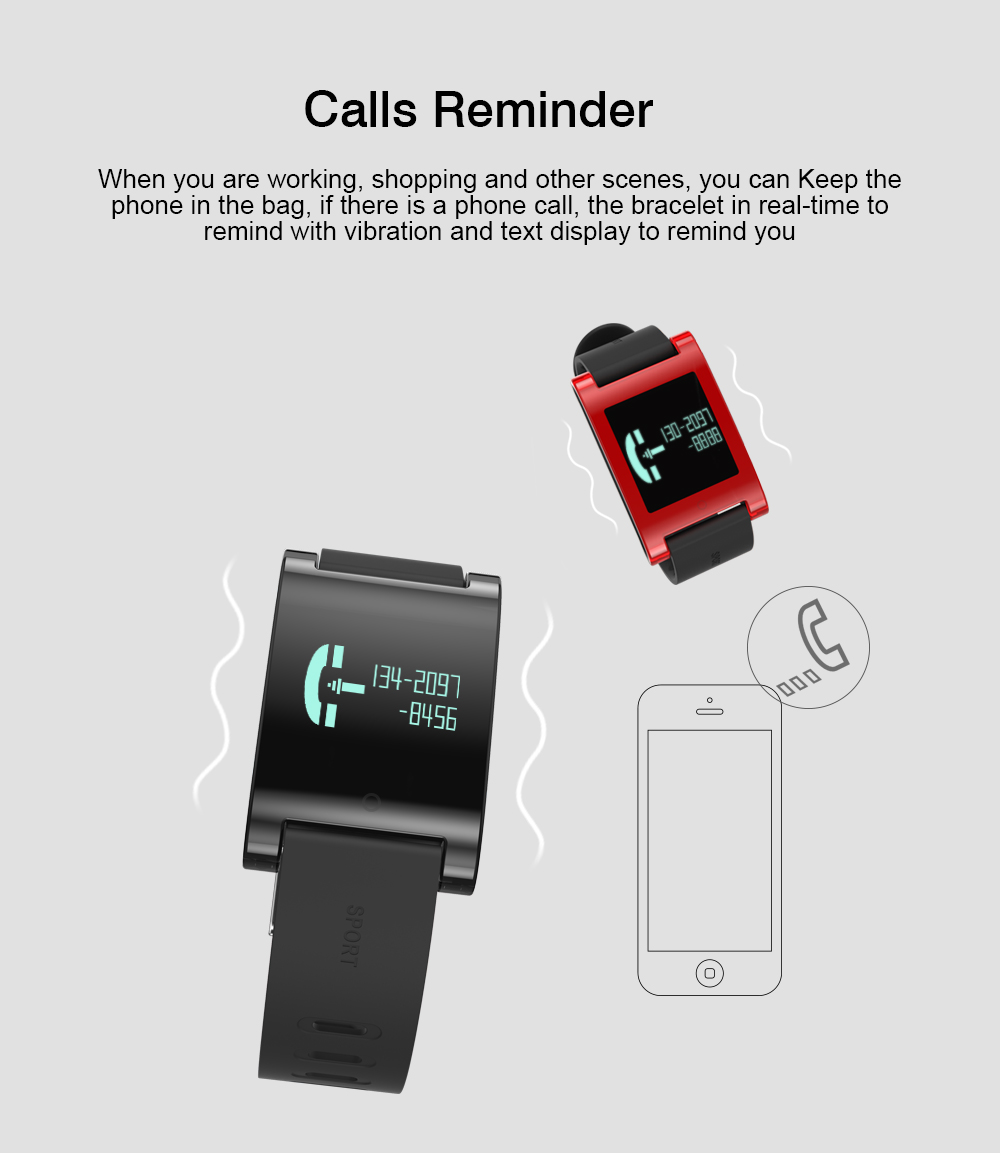 LEMDIOE DM68 waterproof smart band wristband fitness tracker Blood Pressure heart rate monitor Calls Messages watch for phone 12