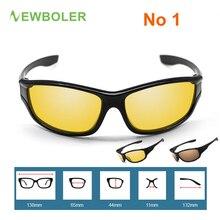 NEWBOLER Polarized Fishing Sunglasses Brown/Yellow Lenses Night Version Men Glasses Outdoor Sport Driving Cycling Eyewear UV400
