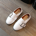 2017 New Arrival Spring Summer Kids Shoes Buckle Strap Decorated Unisex Boys Girls Casual Sneakers Patent Leather Children Flats