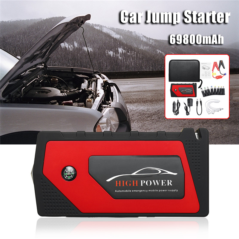 Audew 12V Multi-Function 69800mAh Portable Starting Device Car Jump Starter Power Bank Car Charger 4USB Output US Plug practical 89800mah 12v 4usb car battery charger starting car jump starter booster power bank tool kit for auto starting device