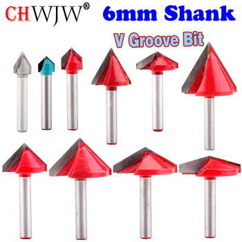 1pc 6mm V Groove Router Bits CNC Engraving Milling Cutter 60-150 Degree Woodworking Carving Knife Tungsten Carbide Cutting Tool gv 12 40 tungsten steel groove woodworking tool v shape woodworking router bit on mdf acrylic 3d cnc router engraving cutting