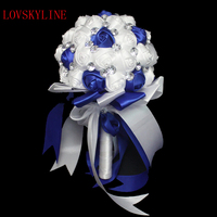 Artificial Flower Crystal Wedding Bouquet Fashion Rose Bruidsboeket Bride Bouquet Flower Ramo De Novia Bridal Wedding Bouquet