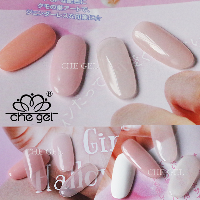 12 colors Nail Art Supply Extension UV Gel French White Pink Clear ...