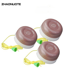 3pcs Old-fashioned Cable Switch Household Bulb Single Control Hand Round Copper Column Wiring Wall Pull Rope Light