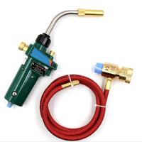brass Mapp Gas Self Ignition Trigger Torch Brazing Propane Plumbing Hvac With Hose for chemical refrigeration electric appliance