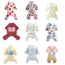 Cute Small Pet Pajamas For Dogs Costume Dog Jumpsuit Cat Clothes Coat Pomeranian Clothing Print Shirt Chihuahua 35