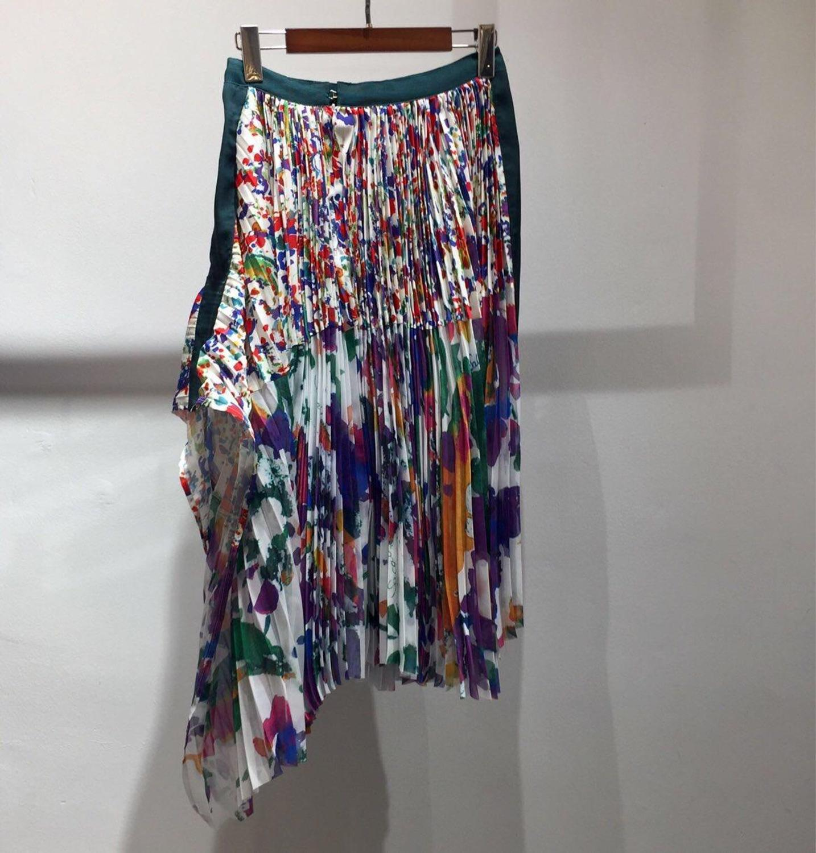 high quality summer new women flower prints pleated skirt rmsx 4 09
